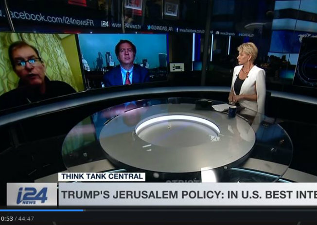 ThinkTankCentral on Trump's Jerusalem declaration; Main Interview with Amos Gilead; 30 Years Since First Intifada and Last Word on Trump's empty, ego-soothing decree on Jerusalem <br> Dec 9, 2017
